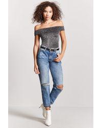 Forever 21 - Multicolor Metallic Off-the-shoulder Bodysuit - Lyst