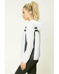 Forever 21 - White Active Windbreaker Jacket - Lyst