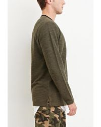 Forever 21 - Green Marled Knit Pocket Tee for Men - Lyst