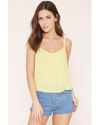 Forever 21 - Yellow Crochet-trim Cami - Lyst