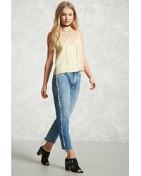 Forever 21 - Yellow Satin Cami Top - Lyst