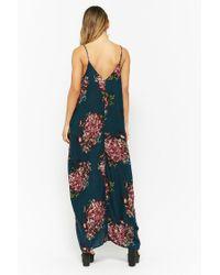 Forever 21 Blue Women's Floral Maxi Dress