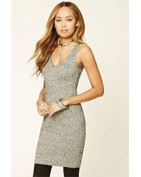 Forever 21 - Metallic Marled Knit Dress - Lyst