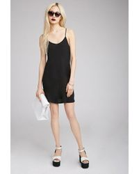 Forever 21 - Black Longline Scoop Back Cami You've Been Added To The Waitlist - Lyst
