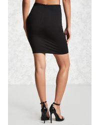Forever 21 - Black Hook-eye Bodycon Skirt - Lyst