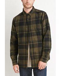 Forever 21 - Gray Tartan Plaid Flannel for Men - Lyst