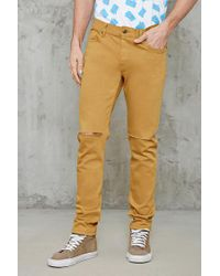 Forever 21 - Multicolor Raw-cut Slim-fit Jeans for Men - Lyst