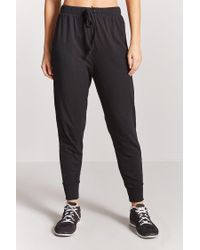 Forever 21 - Black Women's Active Drawstring Jogger Pants - Lyst