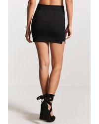 Forever 21 - Black Vented-hem Mini Skirt - Lyst