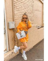 Missguided Mg Signature Sweater Dress At , Orange