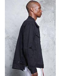 Forever 21 - Black High-low Denim Jacket for Men - Lyst