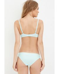 Forever 21 - Blue Lace-paneled Push-up Bra - Lyst