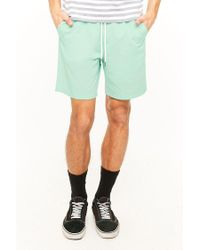 Forever 21 Green 's Cotton Drawstring Shorts for men