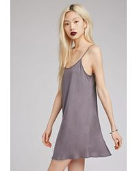 Forever 21 - Gray Longline Scoop Back Cami - Lyst