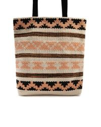 Forever 21 - Natural Striped Geo Tote Bag - Lyst