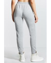 Forever 21 - Gray Heathered Pocket Joggers - Lyst