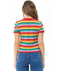 Forever 21 - Multicolor Multistriped Ringer Tee - Lyst