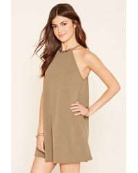 Forever 21 - Green A-line Mini Dress - Lyst