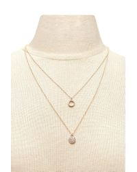 Forever 21   Metallic Layered Pendant Necklace   Lyst