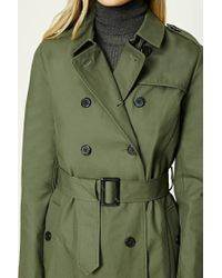 Forever 21 - Green Classic Trench Coat - Lyst