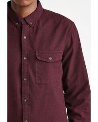 Forever 21 | Purple Textured Woven Pocket Shirt for Men | Lyst