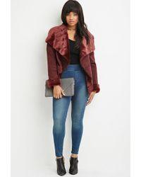 Forever 21 - Purple Plus Size Faux Fur-lined Coat - Lyst