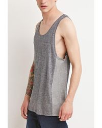 Forever 21 | Gray Marled Colorblock Tank for Men | Lyst