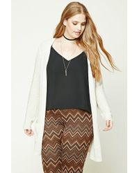 Forever 21 - Multicolor Plus Size Open-front Cardigan - Lyst