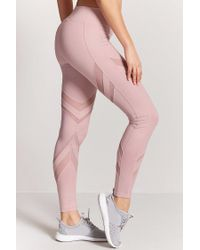 Forever 21 Purple Active Mesh-panel Leggings