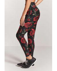 Forever 21 Multicolor Active Rose Graphic Capri Leggings