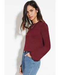Forever 21 - Purple Bell-sleeved Top - Lyst