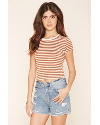 Forever 21 - Multicolor Striped Knit Tee - Lyst