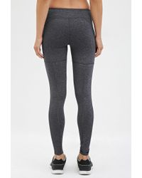Forever 21 - Gray Active Heathered Leggings - Lyst