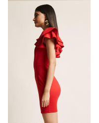 Forever 21 Tiered Ruffle Bodycon Dress