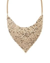 Forever 21 - Metallic Draped Triangle Bib Necklace - Lyst