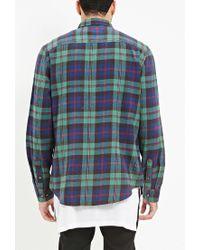 Forever 21 - Green Tartan Plaid Flannel Shirt for Men - Lyst
