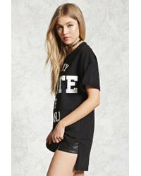 Forever 21 - Black La Ny State Of Mind Tee - Lyst