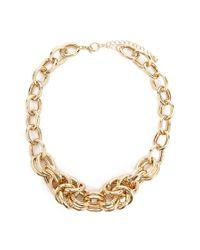 Forever 21 Metallic Women's Statement Chain Necklace