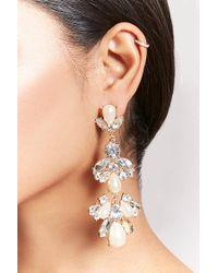 Forever 21 - Metallic Cluster Drop Earrings - Lyst