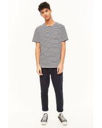 Forever 21 - Black 's Striped Pocket Tee Shirt for Men - Lyst