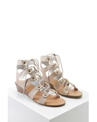 Forever 21 - Natural Leather Caged Wedges - Lyst