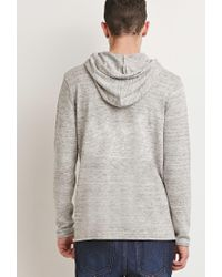 Forever 21 Natural Marled Knit Hoodie for men