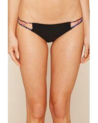 Forever 21 - Black Macrame Bikini Bottoms - Lyst