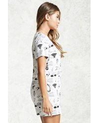 Forever 21 - White Oh Hey Graphic Pyjama Top - Lyst