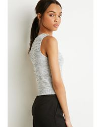 Forever 21 - Black Marled Knit Sweater Tank - Lyst