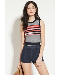 Forever 21 - Blue Stripe Sweater Vest - Lyst