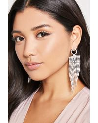 Forever 21 - Metallic Chainmail Duster Earrings - Lyst