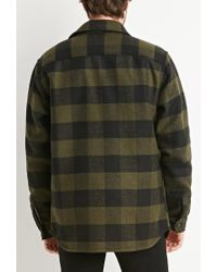 Forever 21 - Green Buttoned Plaid Jacket for Men - Lyst