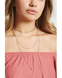 Forever 21 - Metallic Mixed Chain Choker Necklace - Lyst