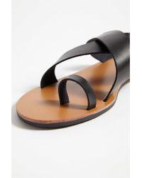 Forever 21 Black Crisscross Faux Leather Sandals